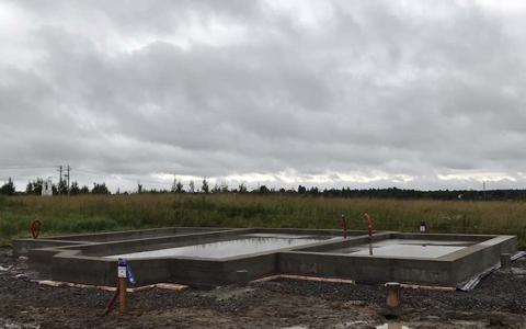 Фундамент для дома из газобетона в 1,5 этажа в посёлке Большое Коновалово Ломоносовского района, Лен. обл.
