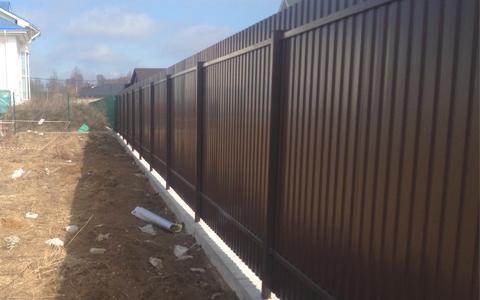 Фундамент под забор в коттеджном посёлке Колтуши во Всеволожском районе