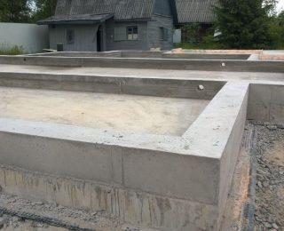 Павловск — монолитная плита с ростверком под дом из газобетона