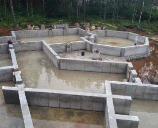 КП «Охтинский парк» — монолитная плита с ростверком под дом из газобетона