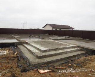 Фёдоровское — монолитная плита с ростверком под дом из газобетона
