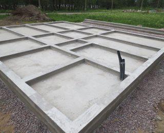 КП «Финский Хутор» — плита с ростверком под каркасный дом с навесом