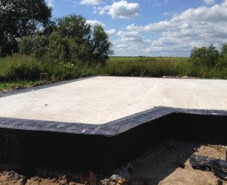 Большое Сергелево — монолитная плита под дом из арболитовых блоков