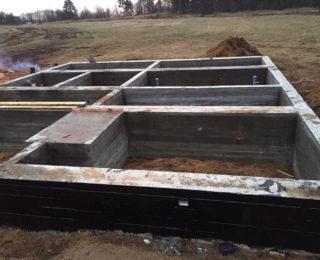 Приветнинское — ленточный фундамент под дом из рубленного бревна