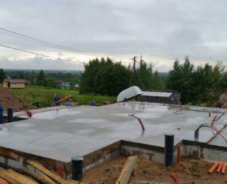 Ропша — ленточный фундамент под дом из газобетона в 2 этажа