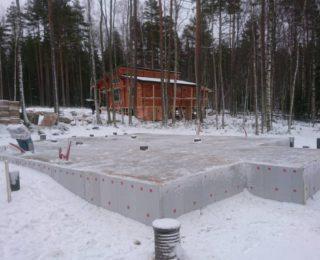 КП Морские террасы - Ленточный фундамент с полами по грунту