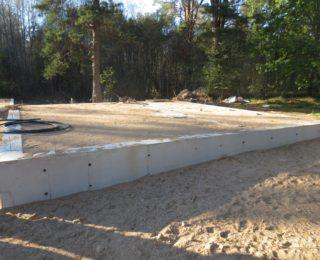 Васильево — ленточный фундамент и плита с ростверком под каркасные дома