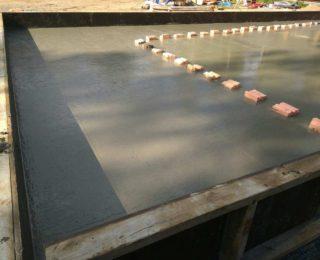Песочный — монолитная плита под каркасный дом