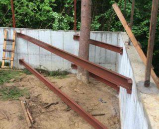 п. Токсово - фундамент под забор