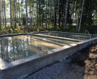 Борисово — монолитная плита с ростверком под баню с террасой