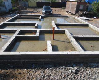 Сестрорецк — монолитная плита с ростверком под дом из бруса