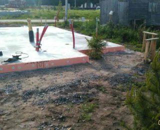 Ольшаники — монолитные плиты под фахверковый дом и гараж