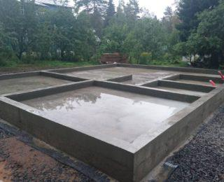 Осельки — плита с ростверком под дом из бруса