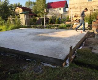 Сестрорецк — монолитная плита под деревянный дом из бруса