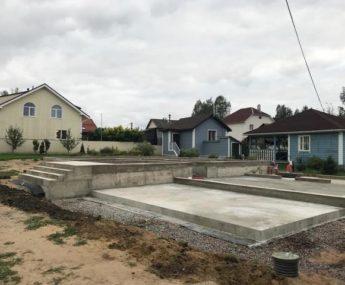 дер. Юкки - плита с ростверком под дом из клееного бруса