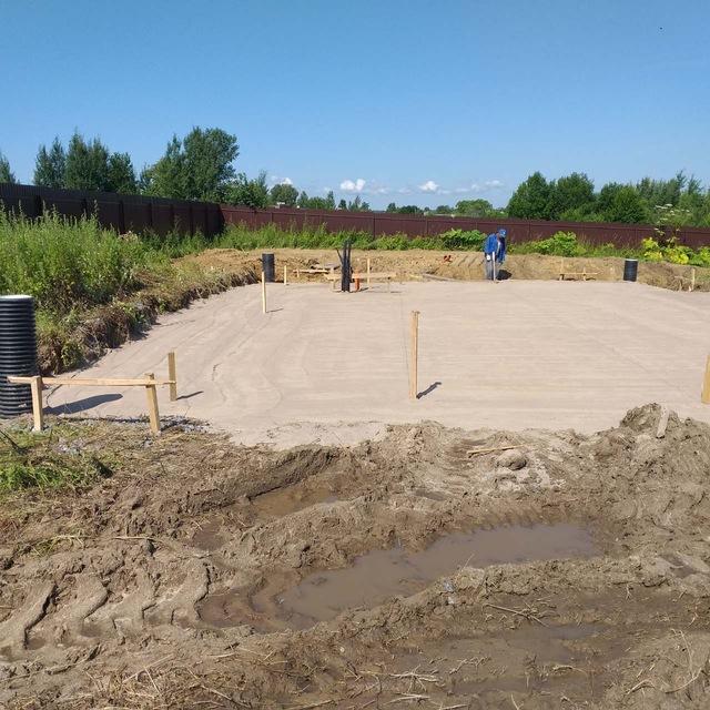 Устройство песчаного основания фундамента