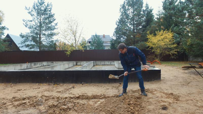 песчано-щебеночная подушка