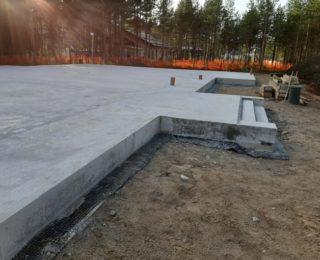 Белоостров - монолитный фундамент под дом из керамоблоков