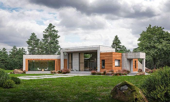 Монолитные дома PREMIUM в стиле Hi-Tech