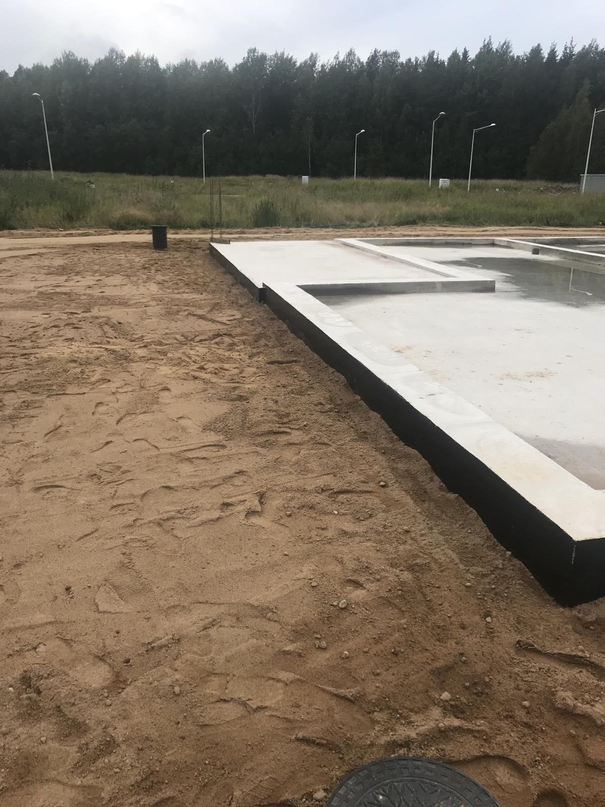 Строительство монолитной плиты с ростверком